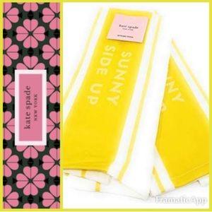 🆕💛♠️Kate Spade Bistro Stripe Kitchen Towel